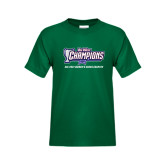 Big West Youth Dark Green T Shirt-Big West Champions 2016 Cal Poly Womens Cross Country