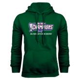 Big West Dark Green Fleece Hood-Big West Champions 2016 Cal Poly Mens Cross Country