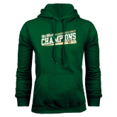 Big West Dark Green Fleece Hood-2015 Womens Cross Country - Cal Poly