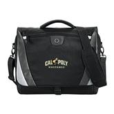 Slope Black/Grey Compu Messenger Bag-Calpoly Mustangs Primary Mark