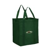 Non Woven Dark Green Grocery Tote-Calpoly Mustangs Primary Mark