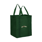 Non Woven Dark Green Grocery Tote-Calpoly w/ Mustang