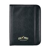 Insight Black Calculator Padfolio-Calpoly Mustangs Primary Mark