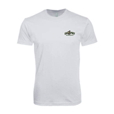 SoftStyle White T Shirt-Calpoly Mustangs Primary Mark