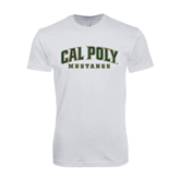 SoftStyle White T Shirt-Calpoly w/ Mustang