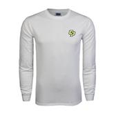White Long Sleeve T Shirt-Interlocking CP