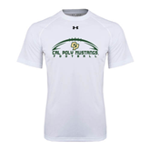 Under Armour White Tech Tee-Arched Football Design