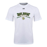Under Armour White Tech Tee-Baseball Crossed Bats Design