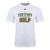 Under Armour White Tech Tee-Tee Off Golf Design