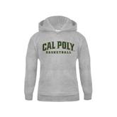 Youth Grey Fleece Hood-Basketball