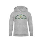 Youth Grey Fleece Hood-Arched Football Design