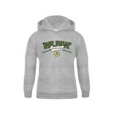 Youth Grey Fleece Hood-Baseball Crossed Bats Design