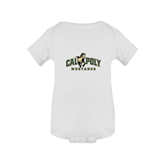 White Infant Onesie-Calpoly Mustangs Primary Mark