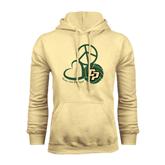 Champion Vegas Gold Fleece Hoodie-Peace, Love, Volleyball Design