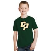 Youth Dark Green T Shirt-Interlocking CP