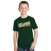 Youth Dark Green T Shirt-2017 Mens Cross Country Champions