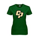 Ladies Dark Green T Shirt-Interlocking CP
