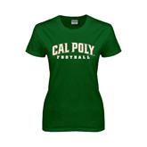 Ladies Dark Green T Shirt-Football