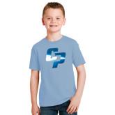 Youth Light Blue T Shirt-Interlocking CP Foil