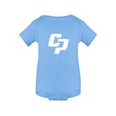 Light Blue Infant Onesie-Interlocking CP