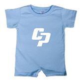 Light Blue Infant Romper-Interlocking CP