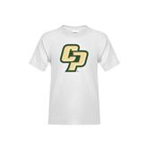 Youth White T Shirt-Interlocking CP