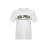 Youth White T Shirt-Football