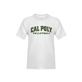 Youth White T Shirt-Volleyball