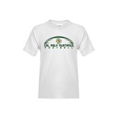 Youth White T Shirt-Arched Football Design