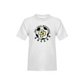 Youth White T Shirt-Soccer Ball Design