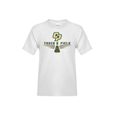 Youth White T Shirt-Track and Field Shoe Design