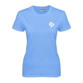 Ladies Sky Blue T Shirt-Interlocking CP