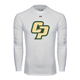 Under Armour White Long Sleeve Tech Tee-Interlocking CP