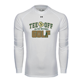 Under Armour White Long Sleeve Tech Tee-Tee Off Golf Design