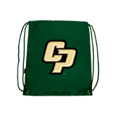 Dark Green Drawstring Backpack-Interlocking CP