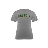 Youth Syntrel Performance Steel Training Tee-Calpoly w/ Mustang
