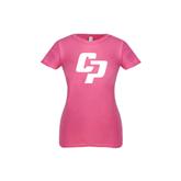 Youth Girls Fuchsia Fashion Fit T Shirt-Interlocking CP