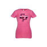 Youth Girls Fuchsia Fashion Fit T Shirt-Interlocking CP Foil