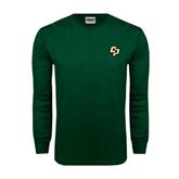 Dark Green Long Sleeve T Shirt-Interlocking CP