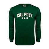 Dark Green Long Sleeve T Shirt-Dad