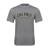 Performance Grey Concrete Tee-Calpoly w/ Mustang