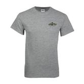 Grey T Shirt-Calpoly Mustangs Primary Mark