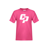 Youth Cyber Pink T Shirt-Interlocking CP