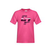 Youth Cyber Pink T Shirt-Interlocking CP Foil