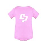 Light Pink Infant Onesie-Interlocking CP