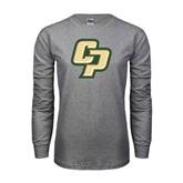 Grey Long Sleeve TShirt-Interlocking CP