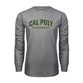Grey Long Sleeve TShirt-Calpoly w/ Mustang