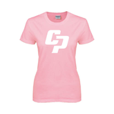 Ladies Pink T Shirt-Interlocking CP