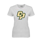 Ladies White T Shirt-Interlocking CP