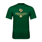 Performance Dark Green Tee-Track and Field Shoe Design